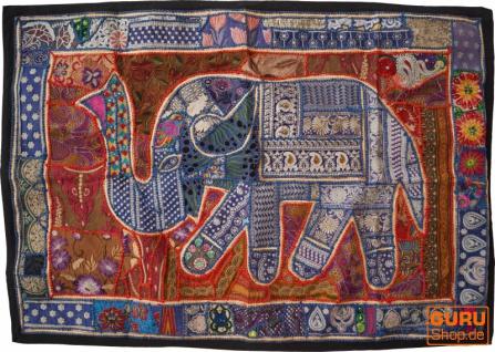 Indischer Wandteppich Patchwork Wandbehang, Einzelstück 150*100 cm - Muster 41