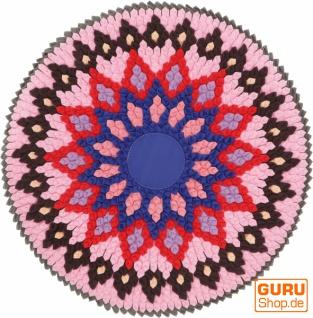 Runde upcycling Mandala Badmatte , Bodenmatte, Badvorleger - Motiv 1