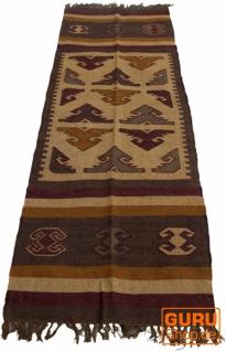 Orientalischer grob gewebter Kelim Teppiche 250*80 cm - Muster 8