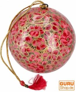 Upcyceling Weihnachtskugel aus Pappmachee, Handbemalter Christbaumschmuck, Kaschmirkugeln