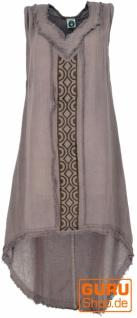 Natürliches Tunikakleid, Boho Sommerkleid - taupe