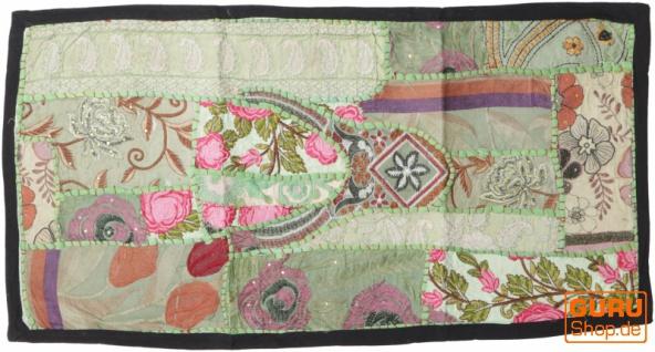 Indischer Wandteppich Patchwork Wandbehang, Tischläufer, Einzelstück 85*45 cm - Muster 5