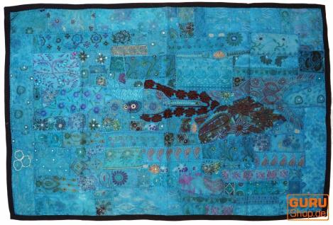 Indischer Wandteppich Patchwork Wandbehang, Einzelstück 150*100 cm - Muster 4