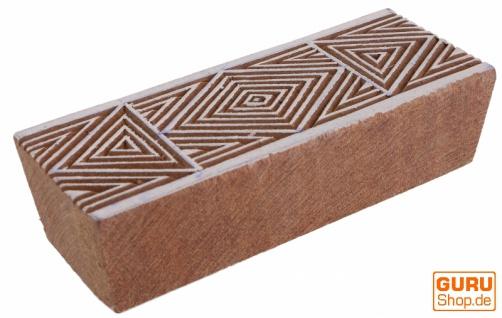 Indischer Textilstempel, Stoffdruckstempel, Blaudruck Stempel, Holz Model Bordürenstempel - 3*10 cm Muster 2