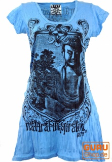 Sure Long Shirt, Minikleid Bodhi Baum Buddha - hellblau