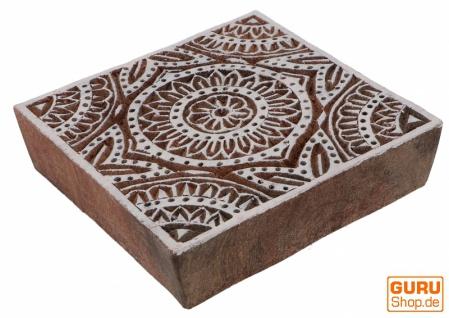 Indischer Textilstempel, Stoffdruckstempel, Blaudruck Stempel, Holz Model - 10*10 cm Mandala 1