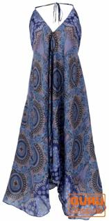 Boho Sommerkleid, Magic Dress, Maxikleid, Nackholder Strandkleid - dunkelblau