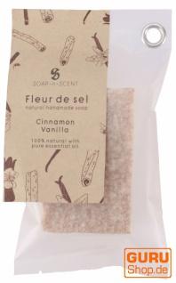 Handgemachte Duftseife Fleur de Sel, 100 g Fair Trade - Vanille-Zimt