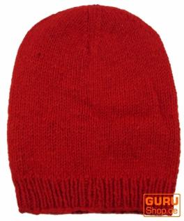 Beanie Mütze, Nepal Nepal Mütze, Strickmütze - rot 63a4e8