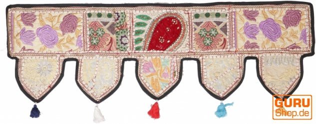Orientalischer Wandbehang, indischer Toran, Wimpel Wandteppich, Wanddekoration, Tür Deko Einzelstück 90*30 cm - Design 9