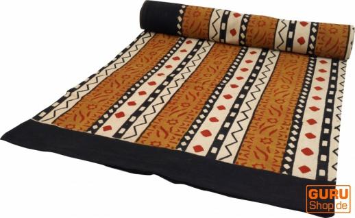 Blockdruck Tagesdecke, Bett & Sofaüberwurf, handgearbeiteter Wandbehang, Wandtuch - braun Afrika Design