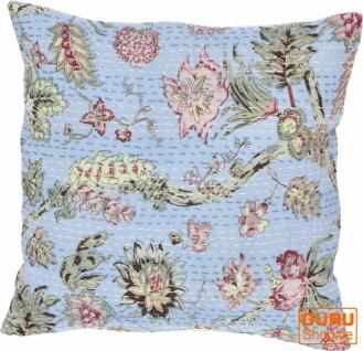 Kissenhülle, Kissenbezug mit Ethno Muster ` Paradies` - blau