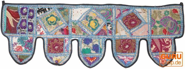 Orientalischer Wandbehang, indischer Toran, Wimpel Wandteppich, Wanddekoration, Tür Deko Einzelstück 90*30 cm - Design 8