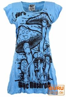 Sure Long Shirt, Minikleid Magic Mushroom - hellblau