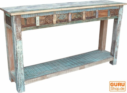 Sideboard, Highboard im Antik Look mit vielen Details - Modell 9