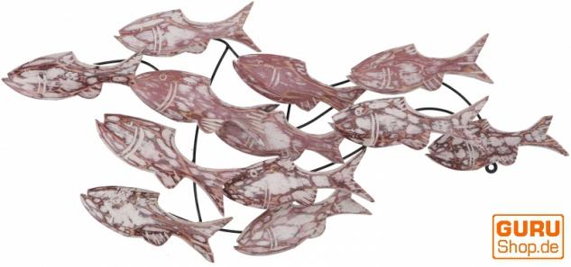 Exotische Wanddekoration Fischschwarm - Modell 6