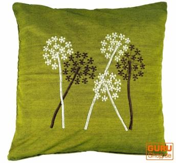 Retro Kissenhülle, Kissenbezug, Dekokissen - Gräser grün