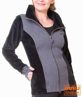 Jacke aus Bio-Baumwolle / Chapati Design - burg/black