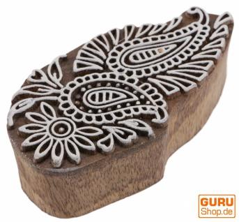 Indischer Textilstempel, Stoffdruckstempel, Blaudruck Stempel, Holz Model - 4*9 cm Paisley 3