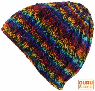 Beanie Mütze, warme Strickmütze - regenbogen regenbogen - 491224