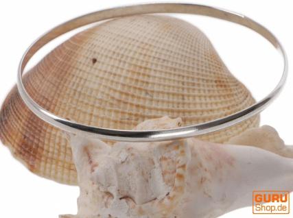 Silberner Boho Armreifen, schlichter Silberarmreif - Modell 6