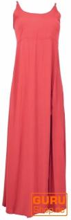 Sommerkleid, Boho Maxikleid mit Schlitz - rot