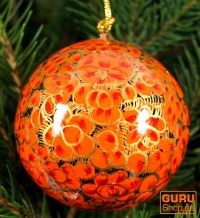 Upcyceling Weihnachtskugel aus Pappmachee, Handbemalter Christbaumschmuck, Kaschmirkugeln - Muster 2