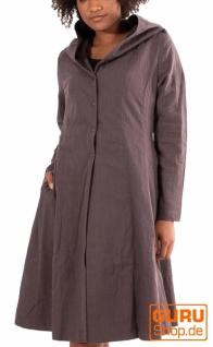 Kurzmantel mit Kapuze/Shortcoat aus Bio-Baumwolle / Chapati Design - grey