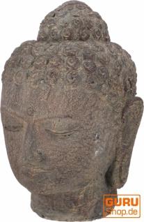 Buddhakopf aus Stein - Modell 3