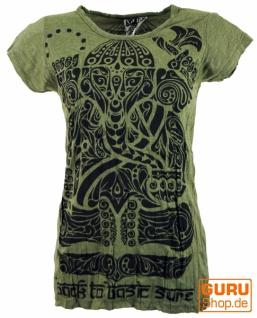 Sure T-Shirt tribal Ganesh - olive