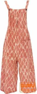 Sommerliche Latzhose, Ethno Style Boho oversize Einteiler, Overall - orange - Vorschau 1