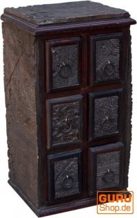 Schubfachschränkchen, Apothekerschränkchen aus alten Blockdruckstempel - Modell 14