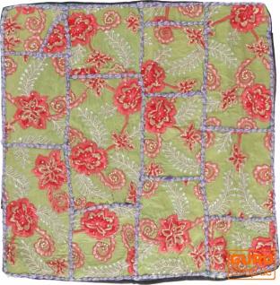 Patchwork Kissenhülle, Dekokissen Bezug aus Rajasthan, Einzelstück - Muster 54