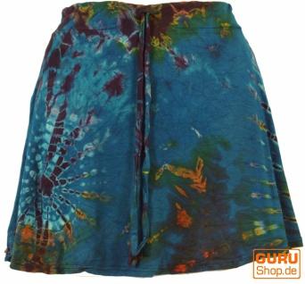 Batik Hippie Minirock, Boho Sommerrock - petrol