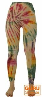 Batik Damen Leggings, Stretch Hose für Frauen, Yogahose - beige