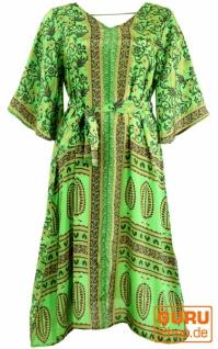 Boho Kaftan, Sommerkleid, Kaftankleid, Strandkleid - lemongrün