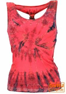 Batik Hippie Top, Tank Top - pink