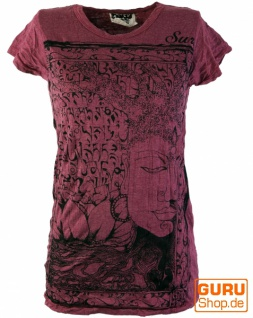 Sure T-Shirt Mantra Buddha - bordeaux