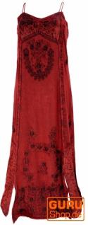 Besticktes Boho Sommerkleid, indisches Hippie Kleid - rot/Design 21