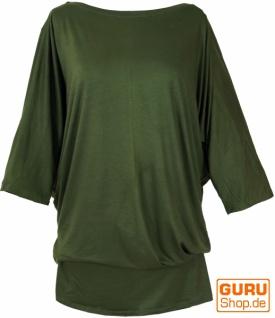 Goa Maxi Shirt, Tunika Maxikleid, Hippie Kleid - olive