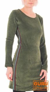 Langärmlige Tunika aus Bio-Baumwolle / Chapati Design - green