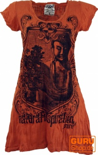Sure Long Shirt, Minikleid Bodhi Baum Buddha - rostorange