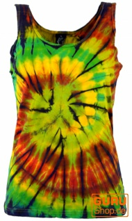 Farbenfrohes Goa-Batik Tanktop, Batiktop - rasta