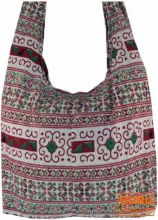 Sadhu Bag, Schulterbeutel, Hippie Tasche Chiang Ma - weiß/rot - Vorschau 2