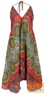 Boho Sommerkleid, Magic Dress, Maxikleid, Nackholder Strandkleid - rot