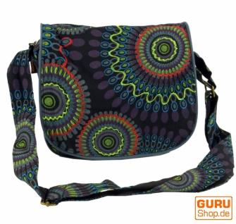 Schultertasche, Hippie Tasche, Goa Tasche - schwarz