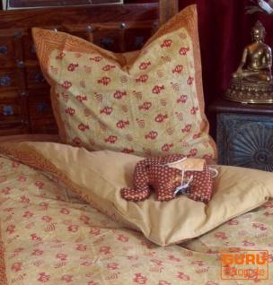 Handbedruckte Blockdruck Bettwäsche aus Baumwolle - Motiv 5 (single 135*200cm)