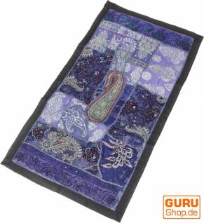 Indischer Wandteppich Patchwork Wandbehang, Tischläufer, Einzelstück 85*45 cm - Muster 16