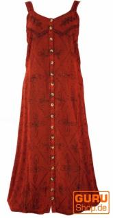 Besticktes Boho Sommerkleid, indisches Hippie Trägerkleid, rot - Design 12