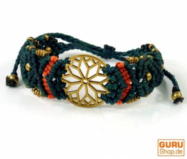 Goa Armband, Makramee, Festival Armband, Einzelstück - Blume Modell 13